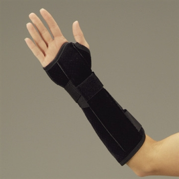 DeRoyal Suede Leatherette Wrist and Forearm Splint