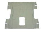 Drive Medical Seat Back with Commode Opening Heavy Duty Patient Lift Sling 13061