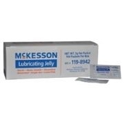 McKesson Lubricating Jelly 3 Gram Foil Pack Sterile