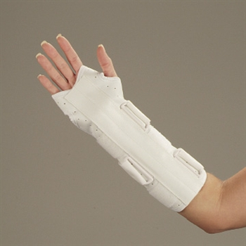 DeRoyal Universal Leatherette Wrist and Forearm Splint
