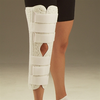 DeRoyal Sized Superlite Knee Immobilizer with Contoured Stays