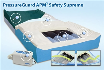 Span America PressureGuard APM2 Safety Supreme with Silver3 Mattress
