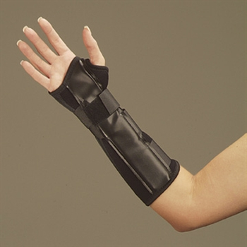 DeRoyal Black Foam Wrist and Wrist Forearm Splint
