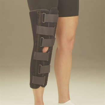 DeRoyal Sized Black Foam Knee Immobilizer