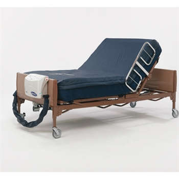 Invacare microAIR MA65RSR Alternating Pressure Mattress with On-Demand Low Air Loss and 50LPM Compressor with Raised Side Rail