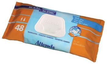 Attends Incontinence Wipes Attend Disposable Washcloths
