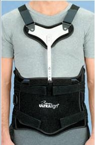 DeRoyal Ultralign Plus Thoracic Lumbar Sacral Orthosis Low Profile Tapered