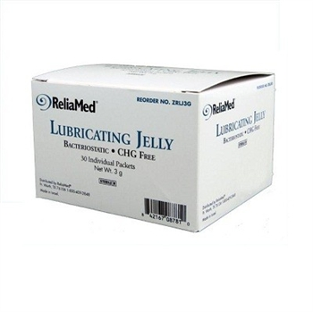 ReliaMed Lubricating Jelly 3 Gram Foil Packets