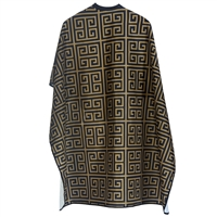 styletek haircutting styling cape - gold & black