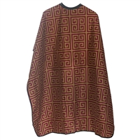 styletek haircutting styling cape - gold & burgundy