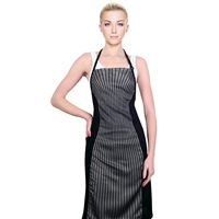 cricket slimming apron - gray pinstripes
