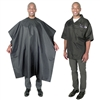 scalpmaster barber jacket & cutting cape set - black