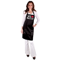 "salonchic expressions ""we love nails"" all-purpose nail tech apron"