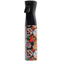 delta industries continuous mist spray water bottle 10 oz sugar skulls