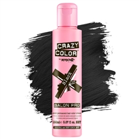 crazy color semi-permanent hair color cream - 030 black