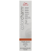 wella color charm permanent gel hair color - 7wr/643 tan blonde