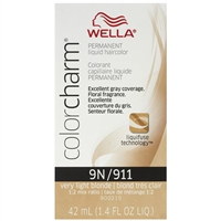 wella color charm permanent liquid hair color - 9n/911 very light blonde