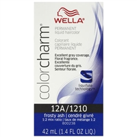 wella color charm permanent liquid hair color - 12a/1210 frosty ash
