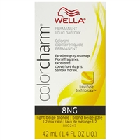 wella color charm permanent liquid hair color - 8ng light beige blonde
