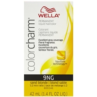 wella color charm permanent liquid hair color - 9ng sand blonde