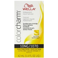 wella color charm permanent liquid hair color - 10ng/1070 honey beige blonde