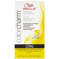 wella color charm permanent liquid hair color - 12ng surf side blonde plus