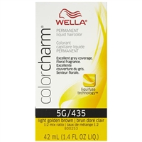 wella color charm permanent liquid hair color - 5g/435 light golden brown