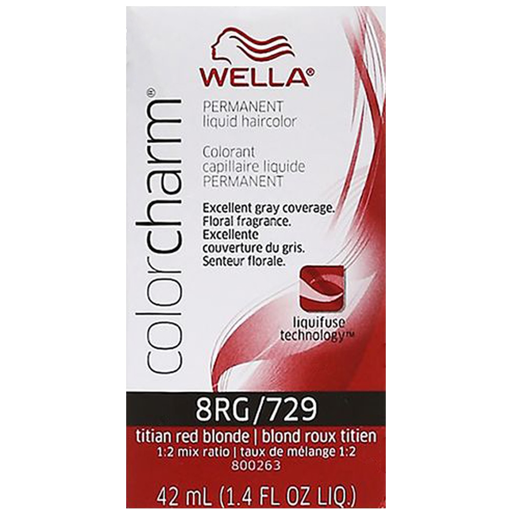 Color Charm Permanent Liquid Hair Color 8rg729 Titian Red Blonde