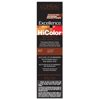 l'oreal excellence hicolor permanent creme hair color browns- h1 coolest brown