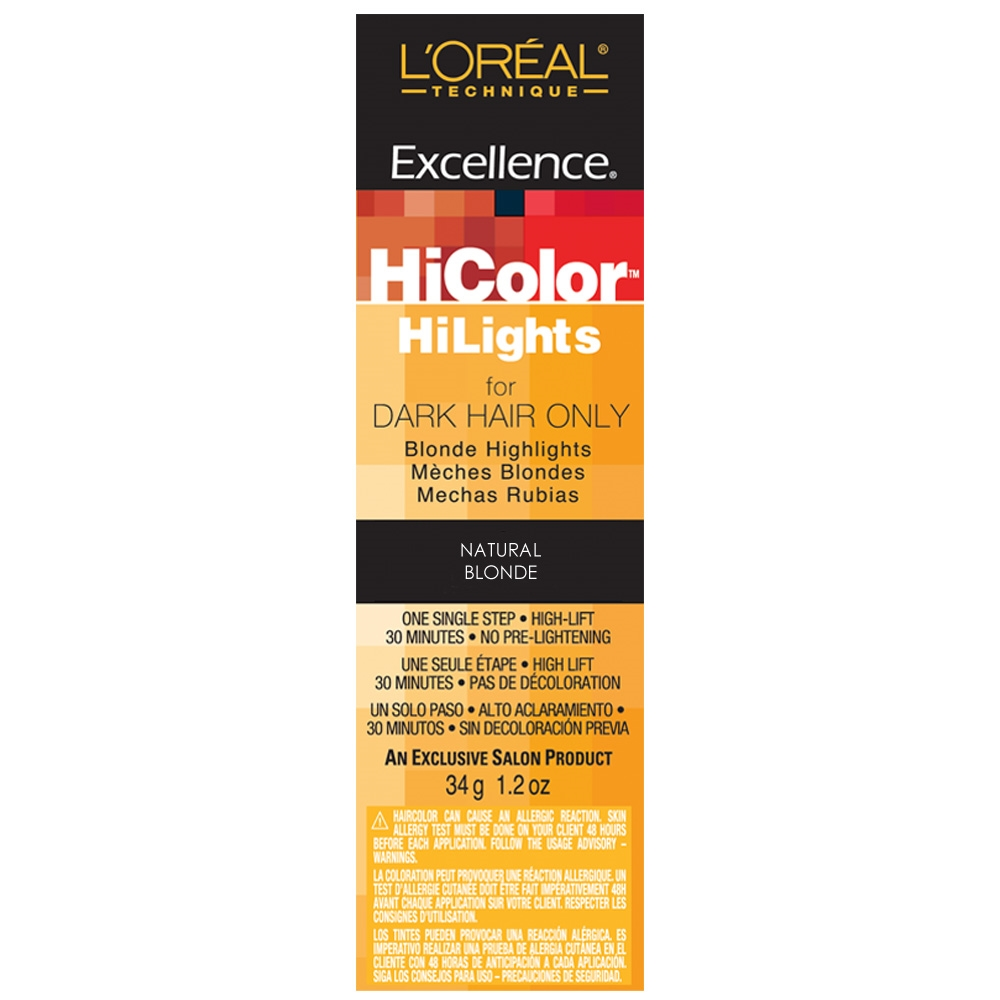 L Oreal Excellence Hicolor Hilights Permanent Creme Hair Color Natural Blonde