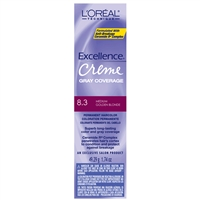 l'oreal excellence permanent creme color - 8.3 medium golden blonde