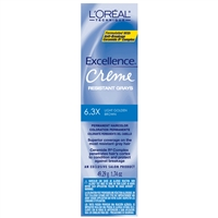 l'oreal excellence permanent creme color resistant grays - 6.3x light golden brown