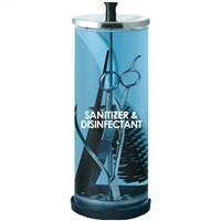 scalpmaster sanitizing manicure jar - 39 oz glass