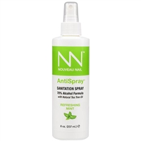 nouveau nail antispray sanitation spray 8 oz 70% alcohol