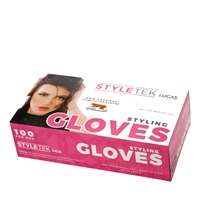styletek vinyl gloves - large 100 pc lightly powdered