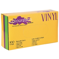colouration gloves powder free vinyl - large