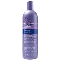 clairol shimmer lights blonds & silver shampoo - 16 oz
