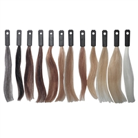 celebrity 100% human hair color testing kit 12 swatches