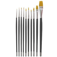 dl pro nail art brush set - 10 pc