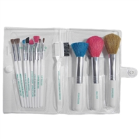 fantasea multi-color cosmetic brush set - 12 pc