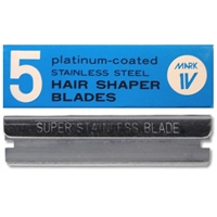 marianna hair shaper stainless steel blades - 5 pc