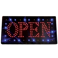 "fantasea led ""open"" sign"