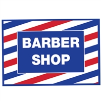 scalpmaster barber shop cling decal sticker