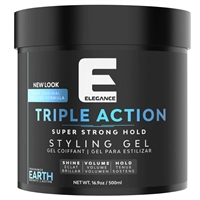 elegance triple action hair gel - earth 500ml