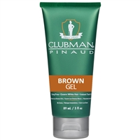 clubman temporary brown gel - 3 oz