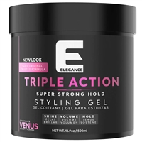 elegance triple action hair gel - venus 500ml