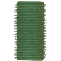 "soft 'n style 1-1/8"" green self-holding grip rollers - 12/pk"