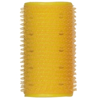 "soft 'n style 1-1/4"" yellow self-holding grip rollers - 12/pk"