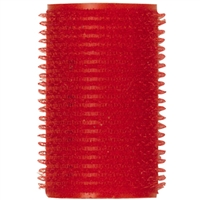"soft 'n style 1-1/2"" red self-holding grip rollers - 12/pk"