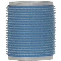"soft 'n style 2-1/8"" blue/white self-holding grip rollers - 3/pk"